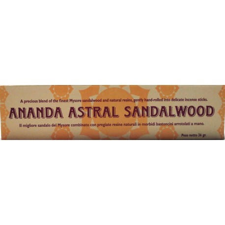 INCENSI NATURALI AL SANDALO ANANDA ASTRAL