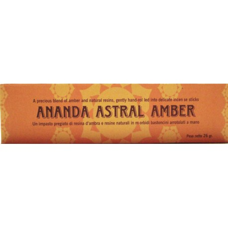 INCENSI NATURALI AMBRA ANANDA ASTRAL
