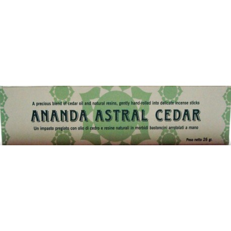 INCENSI NATURALI AL CEDRO ANANDA ASTRAL